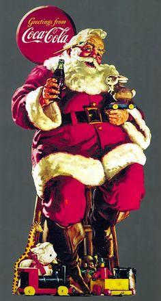Coca-Cola's Iconic Santa Claus Ads by Haddon Sundblom - https://www.facebook.com/createAmixer