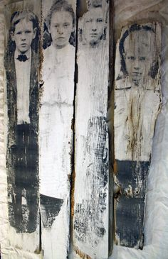 This is the Story Mixed Media Photographic Transfer on Barnboard by glimmeringprize $125. EACH