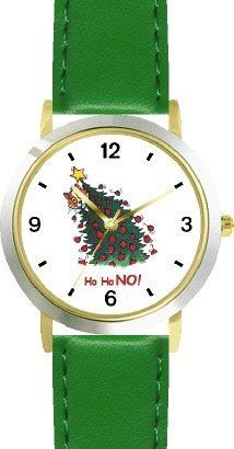 Cat in Christmas Tree - Cat Cartoon or Comic - JP Animal - WATCHBUDDY® DELUXE TWO-TONE THEME WATCH - Arabic Numbers - Green Leather Strap-Size-Children's Size-Small ( Boy's Size & Girl's Size ) WatchBuddy. $49.95. Save 38%!