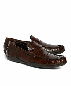 37b5cdbada6 Harrys of London Basel Alligator Penny Loafers - Brooks Brothers Penny  Loafers