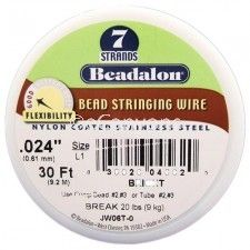 Beadalon 7 .024 30ft Bright   Price : $3.09