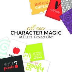 Document all of your favorite theme park characters with the new Character Magic Edition at DigitalProjectLife.com. #DigitalProjectLife #ProjectLife Digital Project Life, Journal Cards, Scrapbooking, Characters, Magic, Park, Projects, Fun, Log Projects