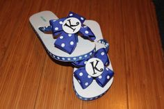 Custom Bow Flip Flops by jessicanapier2 on Etsy, $15.00