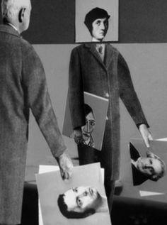 Gilbert Garcin de Gilbert Garcin en Galería Astarté Reflection Photography, Conceptual Photography, Photomontage, Gilbert Garcin, Project Abstract, Shadow Photos, Surreal Photos, Political Art, Edward Hopper