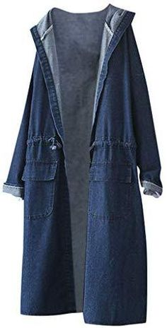 Denim Hoodie Casual Trench Coat Pullover Sweaters, Hooded Sweatshirts, Hoodies, Trench Coat Sale, Basic Hoodie, Tie Dye T Shirts, Chic Dress, Sweater Jacket, Coats For Women