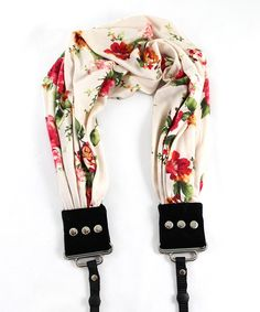 English Rose Scarf Camera Strap