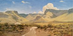 South African Landscape and Karoo Oil Paintings - Johann Koch Fine Art Beaufort West, Cool Art Drawings, Windmill, Abandoned Places, Sunrise, Landscapes, African, Paintings, Artists