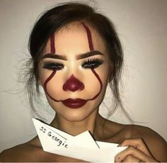 (notitle) - ✨ Make Up Madness ✨ - halloween makeup Halloween Makeup Clown, Halloween Eyes, Clown Makeup, Halloween Kostüm, Costume Makeup, Halloween Costumes, Scary Clown Costume, Halloween Inspo, Makeup Fx