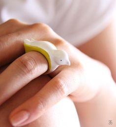50 best bird wedding ideas: #35 bird ring (by september room) via Emmaline Bride