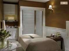 Facilities at Spa Massage Room Design, Massage Room Decor, Massage Therapy Rooms, Facial Room, Rent To Own Homes, Spa Treatment Room, Spa Interior, Spa Rooms, Neck Massage