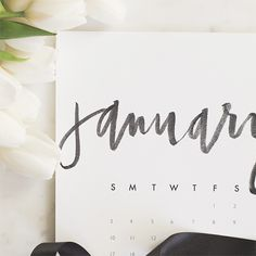 Sweeten up your wall decor with a hand lettered calendar for the new year - with a bonus to do list at the end!