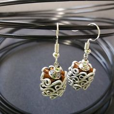 Earrings made of nespresso capsules There is a matching pendant sold separately. other colors available on request