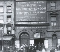 Whitechapel station...it's not there now, this sign. Great isn't it ?