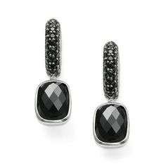 9218b06b Thomas Sabo Earrings - Black Zirconia Pave Hoop with Black Zirconia Drops.  These Thomas Sabo