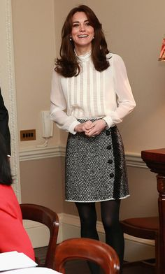 Catherine, Duchess of Cambridge in the 'News Room' at Kensington Palace on February 17, 2016 in London, England. The Duchess of Cambridge is supporting the launch of the Huffington Post UK's initiative 'Young Minds Matter' by guest editing the Huffington Post UK today from Kensington Palace.