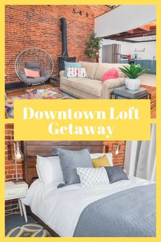 Looking for a cozy winter getaway in a small Minnesota town? Look no further than the Downtown Loft Getaway, conveniently located downtown on Main Street in Stillwater, Minnesota. Stillwater Minnesota, Downtown Lofts, Lofts For Rent, Small Town America, Historic Architecture, Rooftop Deck, Cozy Winter, Rustic Charm, Main Street