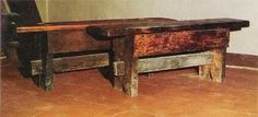 1910 colonial homes, furniture and more | 054-homemade-spanish-colonial-furniture-00a-spanish-colonial-bench ...