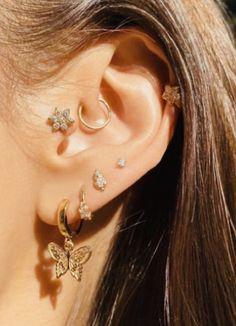 Bijoux Piercing Septum, Ohrknorpel Piercing, Spiderbite Piercings, Ear Peircings, Pretty Ear Piercings, Belly Button Piercing, Double Belly Piercing, Monroe Piercings, Double Cartilage