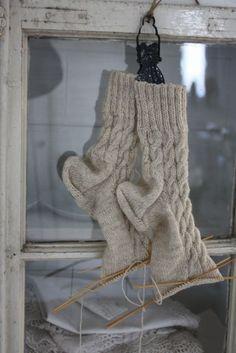 Knitting warm socks