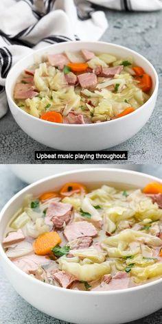 Ham And Potato Soup, Ham Soup, Crock Pot Soup, Slow Cooker Soup, Ham And Potato Recipes, Ham And Cabbage Recipe, Cabbage Soup Diet, Cabbage Soup Recipes, Crockpot Cabbage Soup