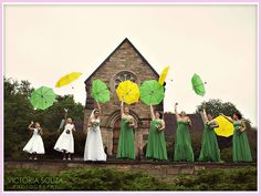 Love the umbrellas!  Google Image Result for http://cachicdesign.com/images/blog-uploads/green-yellow-wedding2-wedding-party-with-umbrellas.jpg