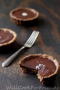 Salted Caramel Chocolate Tartlets