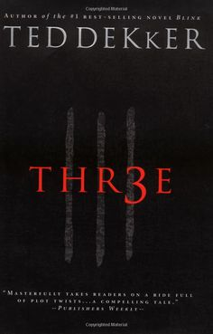 Thr3e by Ted Dekker is one of the first books of his I have read....outside of the Circle Trilogy books.  I think this is my favorite for the edge of your seat suspense and I totally couldn't foreshadow the ending.