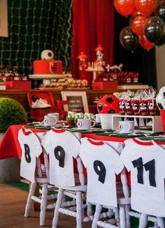 Resultado de imagen para fiesta de futbol cumpleaños