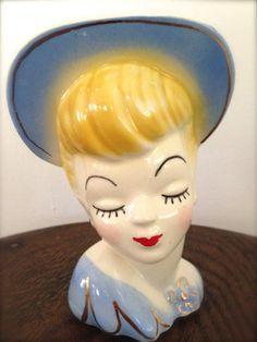 Lady Head Vase - Glamour Girl