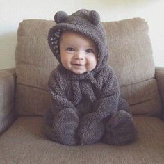 Cute Baby In A Bear Costume funny cute babies kids baby adorable kid humor funny pictures funny kids funny images