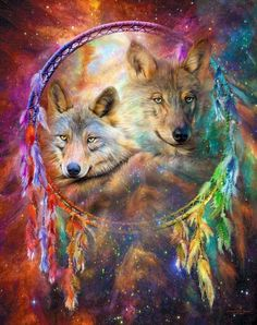 Diamond Embroidery Wolf and Dream Catcher Diamond Mosaic Full Square Crystal Diamond Painting Cross Stitch Room Decoration Native American Wolf, American Indian Art, Beautiful Wolves, Animals Beautiful, Beautiful Dream, Beautiful Artwork, Wolf Dreamcatcher, Wolf Artwork, Wolf Spirit Animal