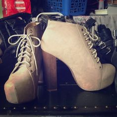 Booties Brand new beige booties size 9 brand new Shoes
