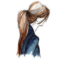 Je trouve que l'artiste avais une bonne idée de faire seulement les cheveux ainsi que son habit, sa fait comme un croquis.