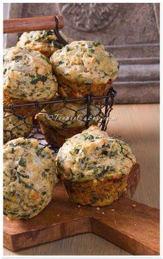 Florentine Muffins with Pesto, Mozzarella, Spinach & Pine Nuts