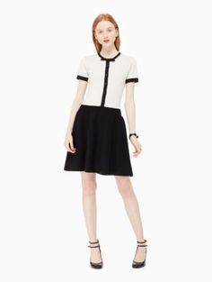 knit fit and flare dress   Kate Spade New York