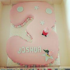 Number 3 cake peppa pig