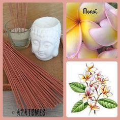 Encens parfum monoï en bâton aux Huiles essentielles naturelles - pochette de 10 bâtons de la boutique A2ATOMES sur Etsy