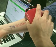 Bring your sketches to life by printing them on your skin. This temporary tattoo printer can convert any drawing or design into a print directly on your body. Test out new tats, represent your team at the next game, or add some fun to any party.