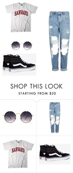 """""""Easy on the go look"""" by mariavargas-i ❤ liked on Polyvore featuring Spitfire, Topshop and Vans"""