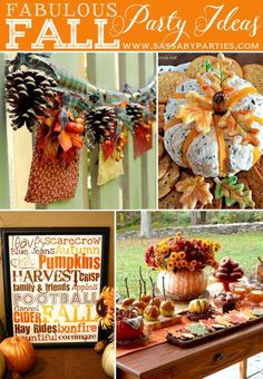 Get inspired for Autumn and Fall with these fabulous Party Ideas, Free Printables and Recipes. Princess Party Games, Bridal Party Games, Diy Party Games, Dinner Party Games, Diy Party Crafts, Graduation Party Games, Craft Party, Fall Crafts, Party Snacks