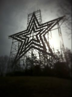 Mill Mountain Star, courtesy of Carey Hazelgrove Photography.  Located on Mill Mountain above Roanoke Virginia.