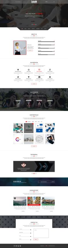 Tabrin – Corporate PSD Template TABRIN is clean, modern and professional Mltipurpose Corporate PSD template. PSD files is perfectly organized, so you can easily customize everything you need. The p...