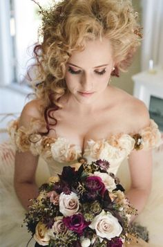 La mariée dans un style de mariage victorien #MariageVictorien
