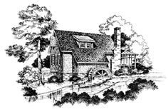 Cabins & Cottages Under 1,000 Square Feet: Yancey's Mill House Plan #741