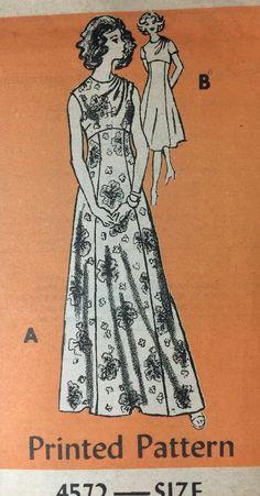 Vintage Pattern Dress Rich Hippie Chic 1970's Fashion Mail Order 18/40 Uncut