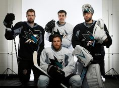 Sharks Olympians Vlasic, Marleau, Pavelski and Niemi, photo SJ Merc