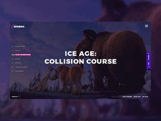 Cinema Concept by Giga Tamarashvili - Dribbble Motion App, Ui Inspiration, Mobile Design, Web Design, Cinema, Branding, Concept, Game Ui, Mobile Ui