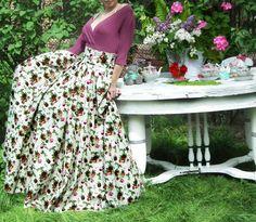 Maxi Skirt Long Skirt Floor length skirt Floral skirt от FatBerry