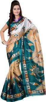 Kajal Sarees Printed Bollywood Art Silk Sari