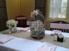 Beautiful Head Table at the Pretty in Pink Baby Shower! February 2015 at #OwenBrennansMemphis #infinityevents #prettyinpink #babyshower #eventplanner #timelessmemorableinfinite  infinityeventsec@gmail.com >> Call me Memphis!